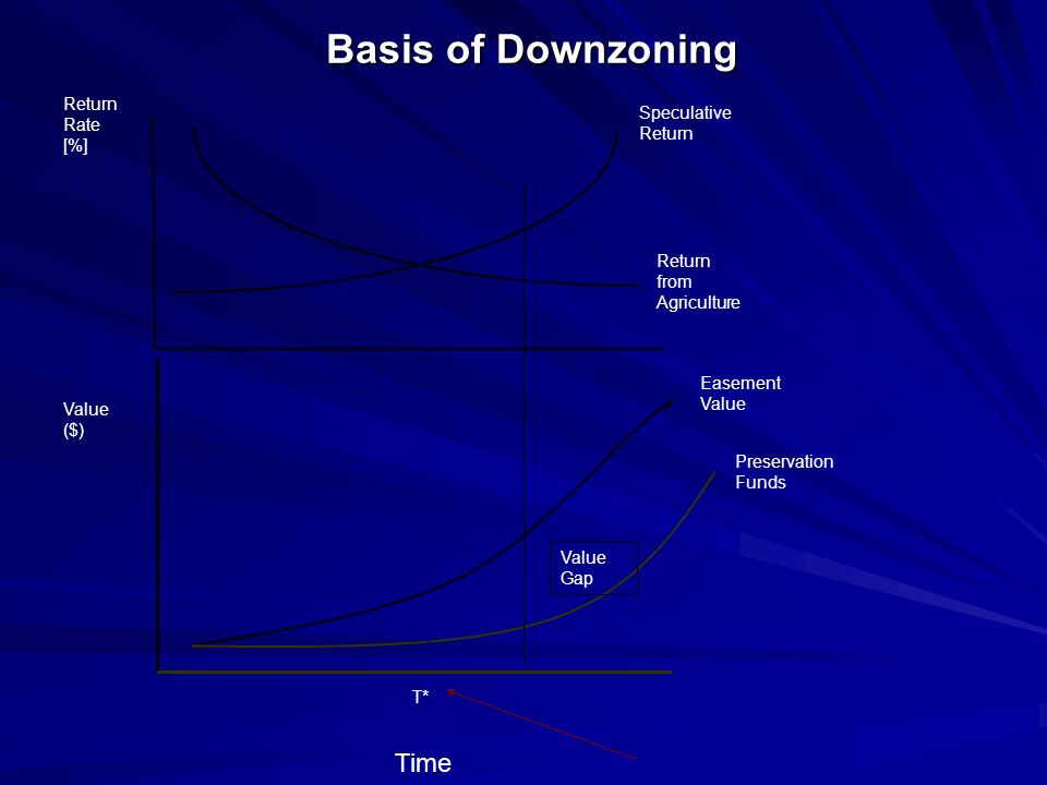 Basis of Downzoning Time Return Rate [%] Speculative Return